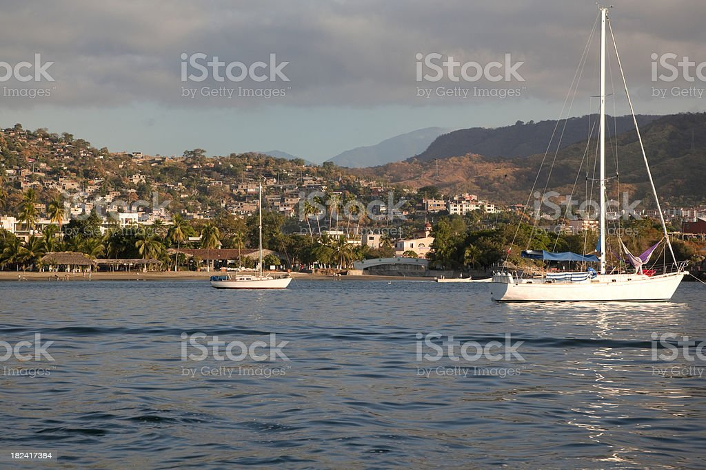 Early Morning in Zihuatanejo Bay, Mexico royalty-free stock photo