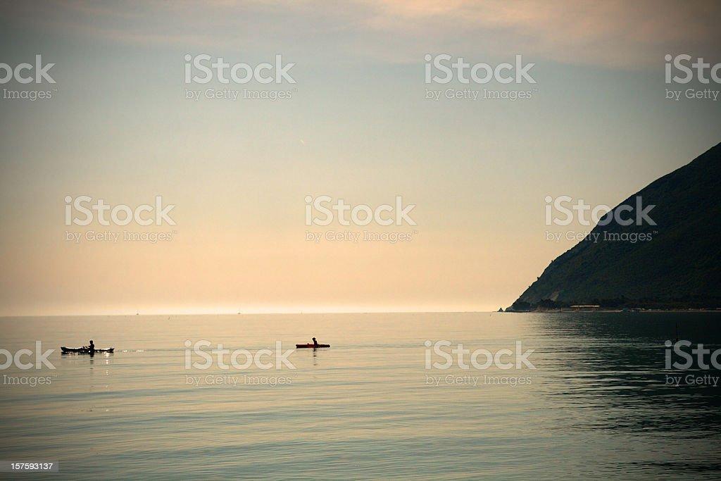 Early Morning Kayaking royalty-free stock photo