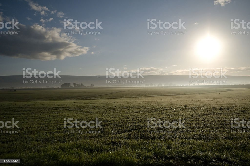 early morning landscape royalty-free stock photo