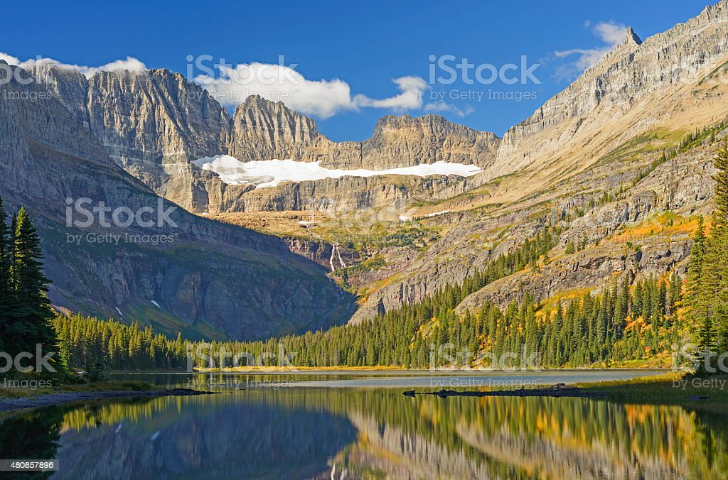 Early Morning Light in the Mountains stock photo