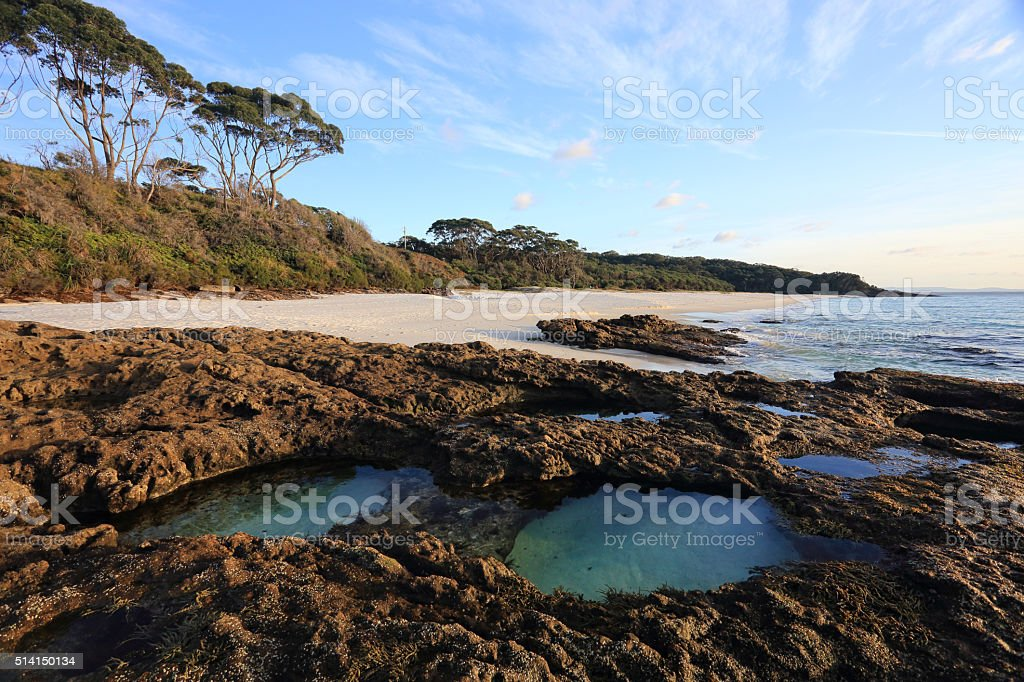 Early morning light Jervis Bay stock photo