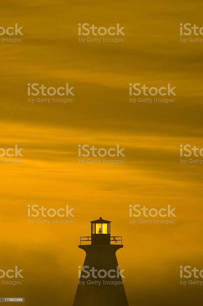 Early morning lighthouse royalty-free stock photo
