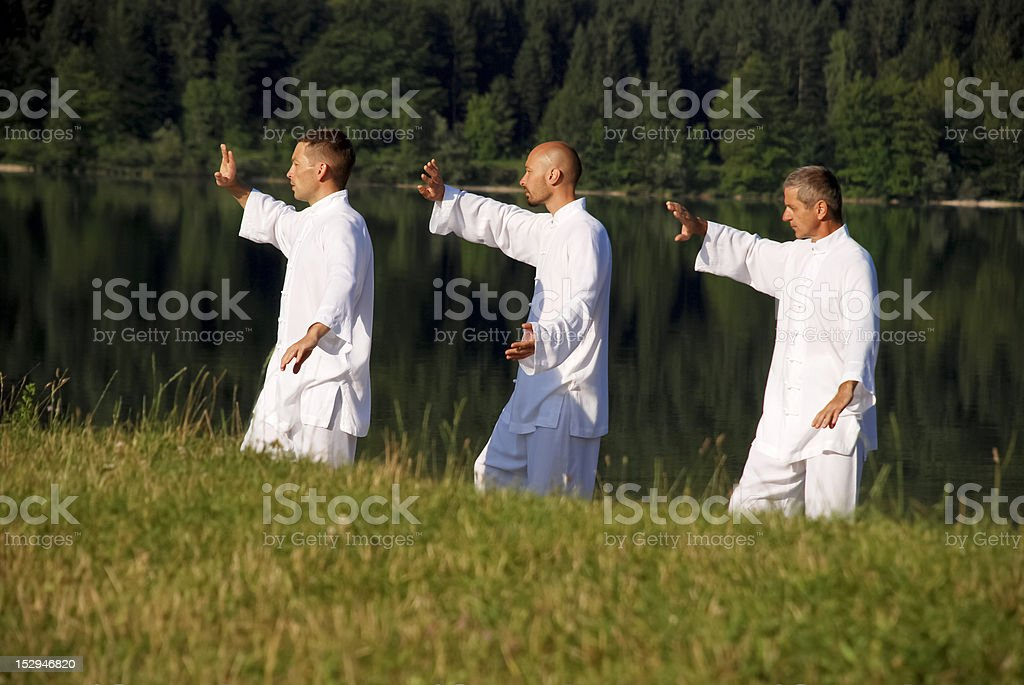 Early morning meditation royalty-free stock photo