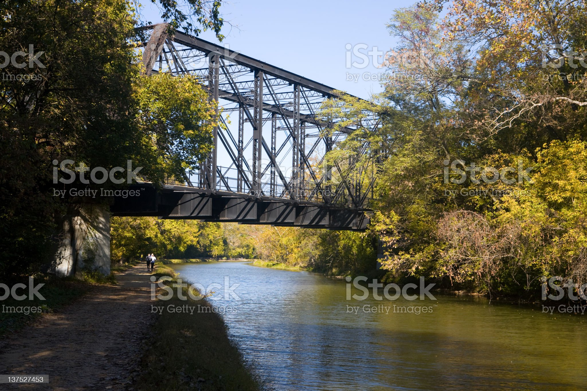 Early morning on the C & O canal royalty-free stock photo