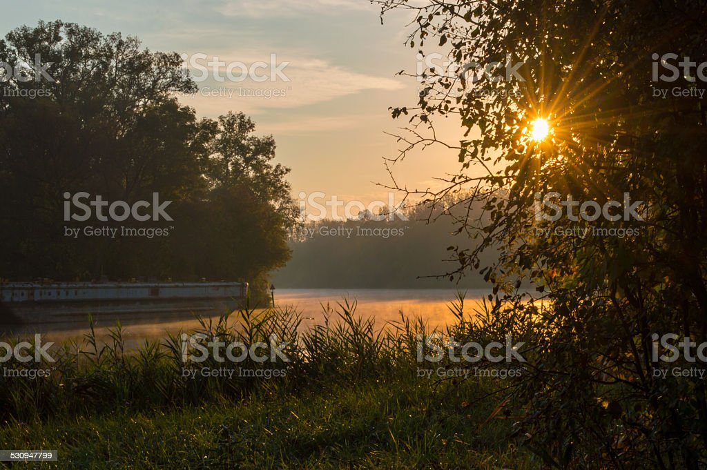 Early Morning on the Erie stock photo