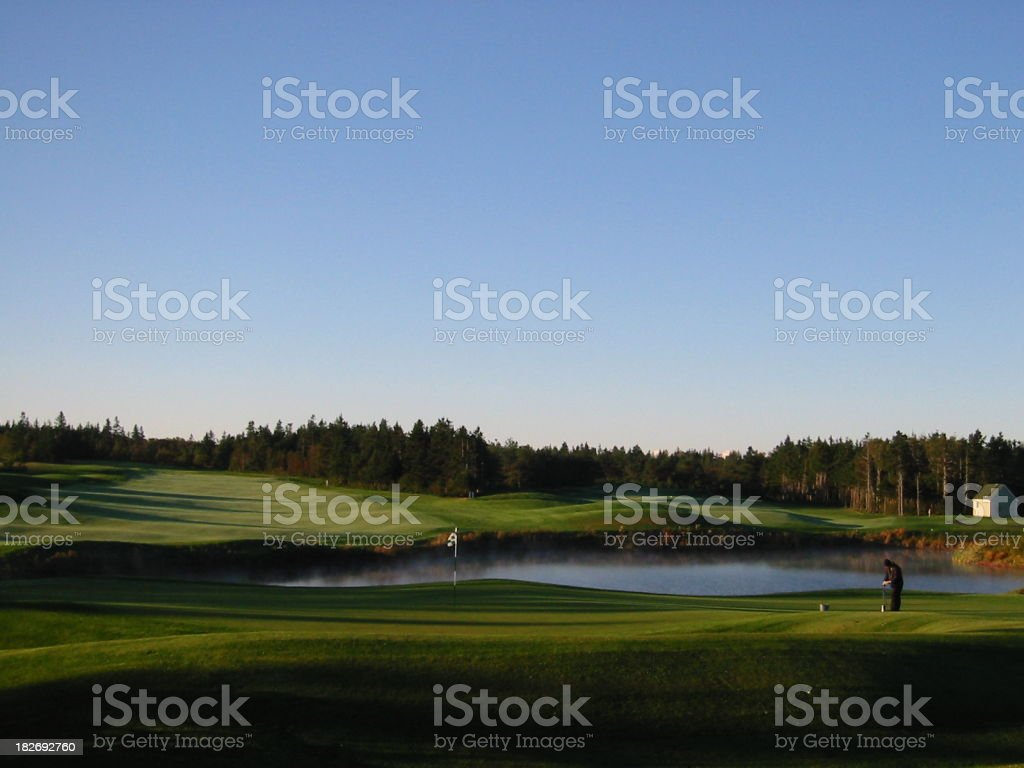 Early morning on the golf links royalty-free stock photo