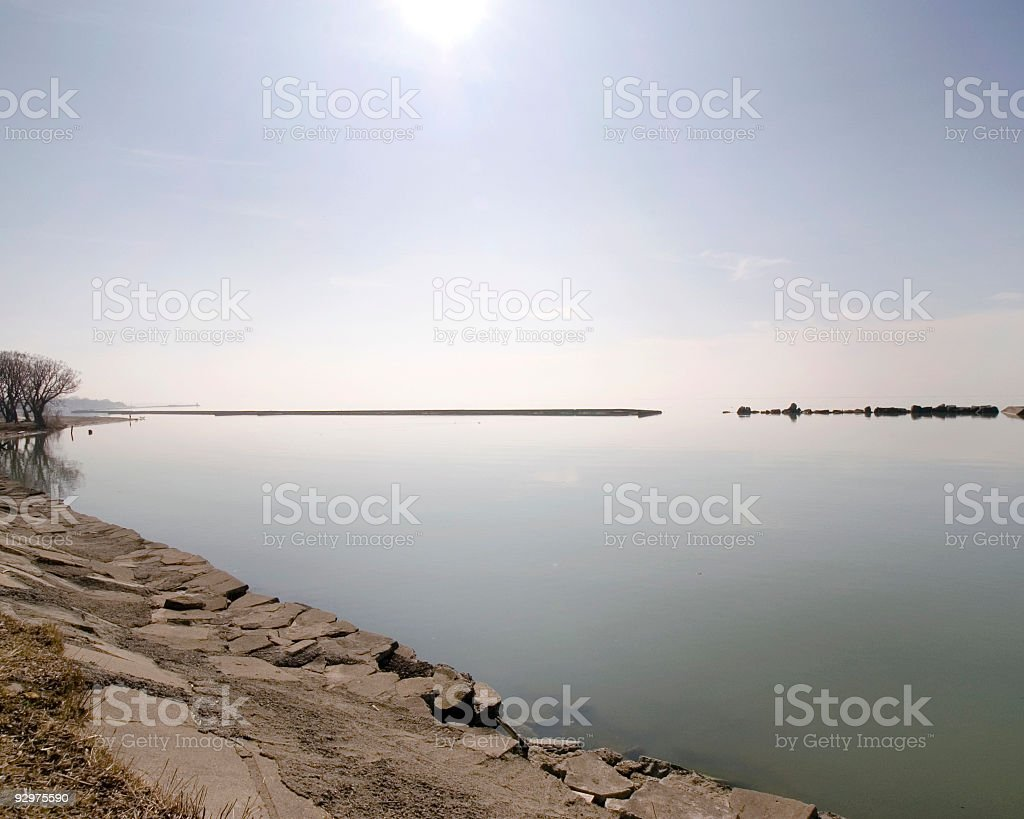 Early Morning on the Lake. royalty-free stock photo