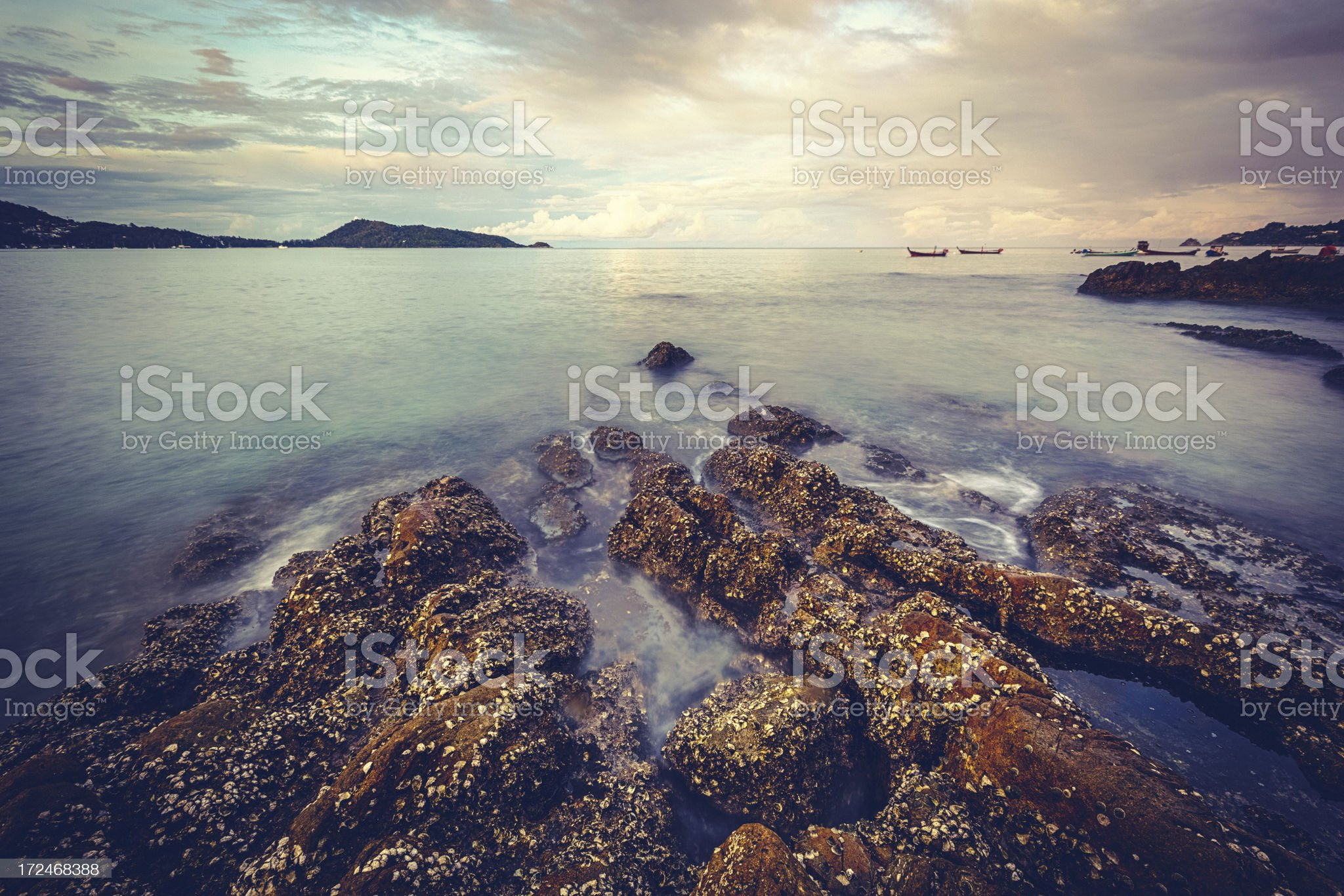 Early Morning on the Sea royalty-free stock photo
