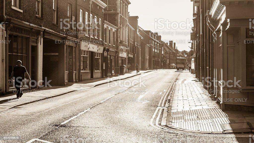 Early morning on Walmgate York stock photo
