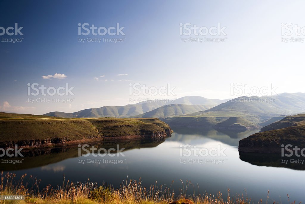 Early morning over Katse stock photo
