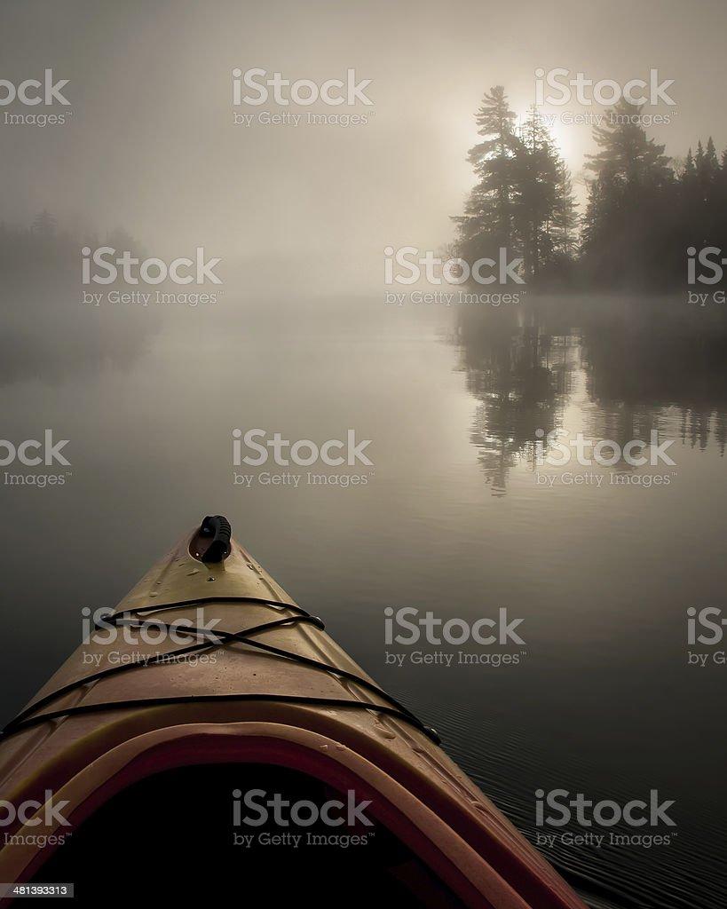 Early Morning Paddle stock photo