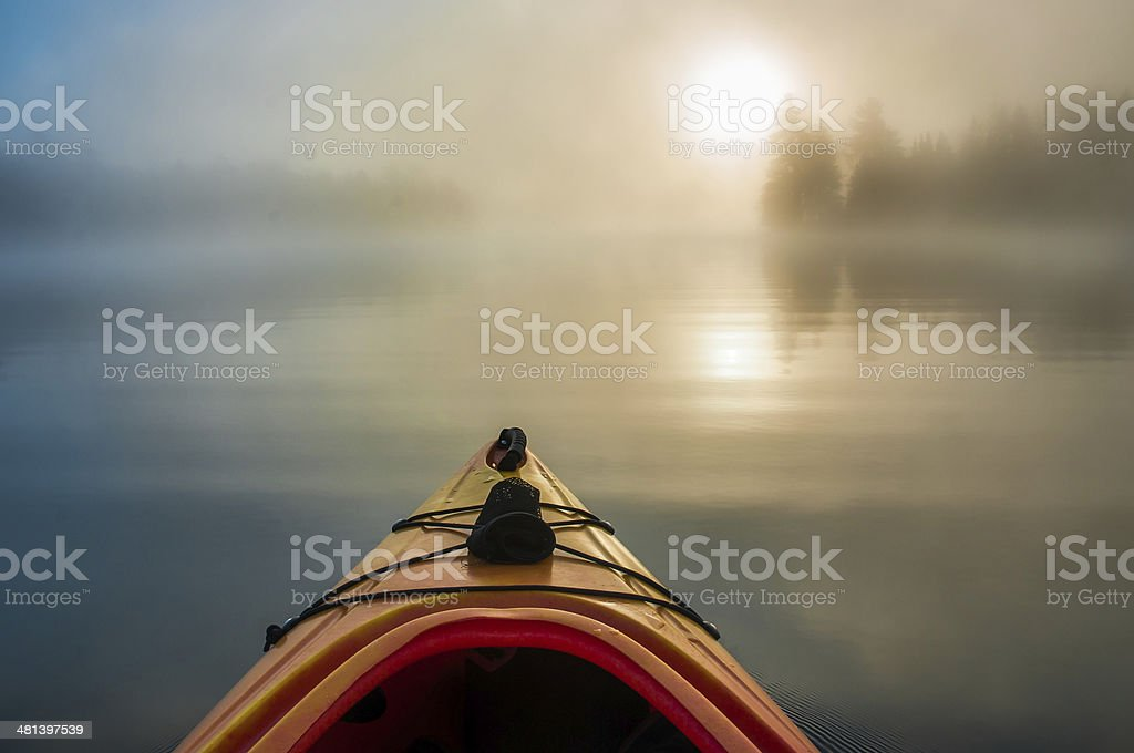 Early Morning Paddle stock photo