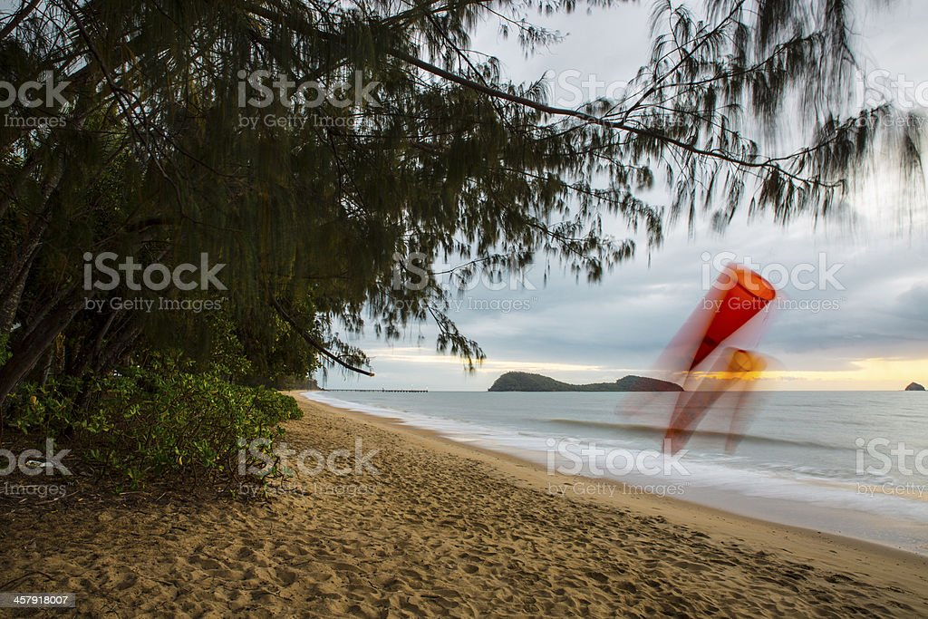 Early morning Palm Cove stock photo