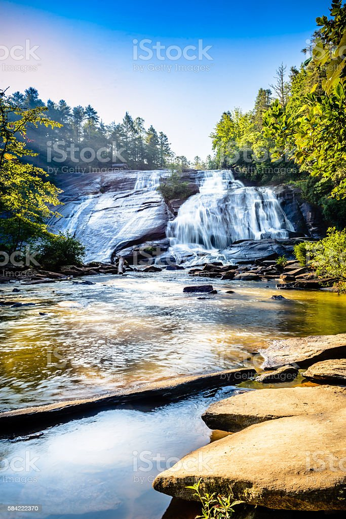 Early morning photograph of High Falls at Dupont stock photo