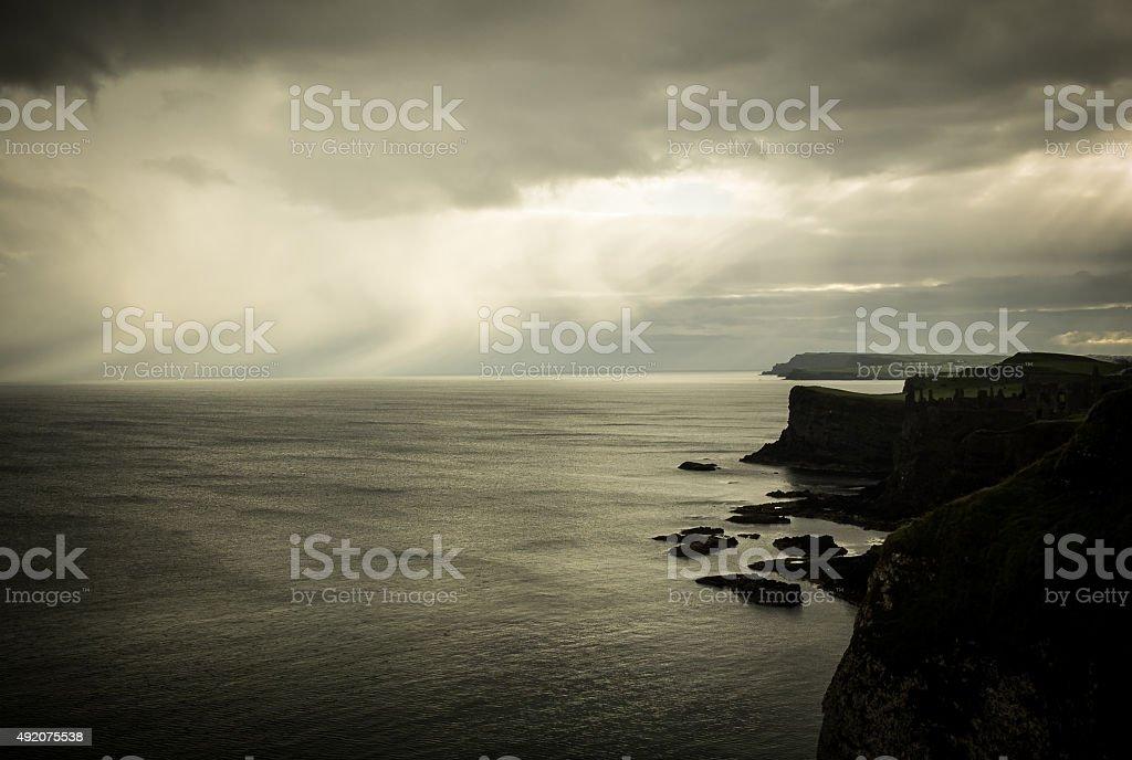 Early morning rain stock photo