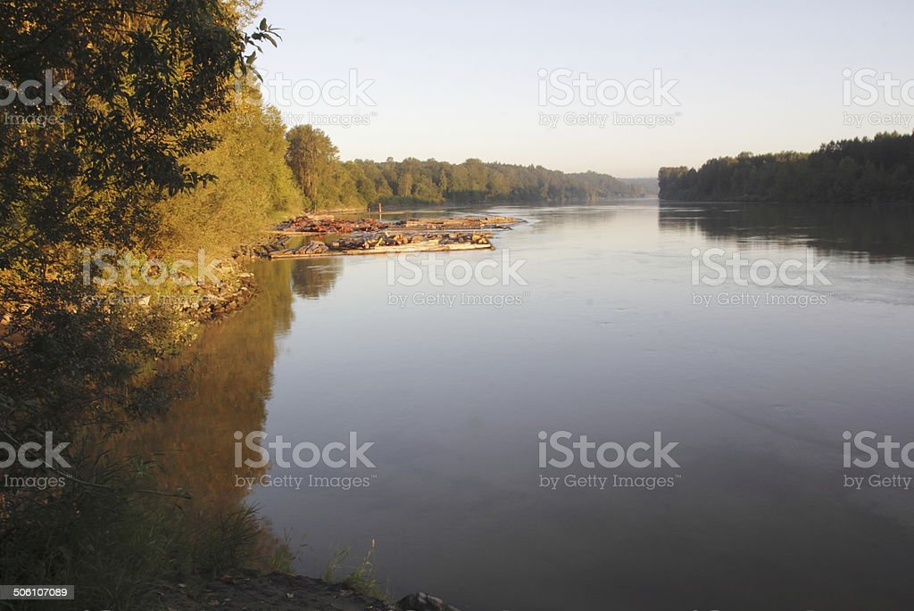 Early Morning River stock photo