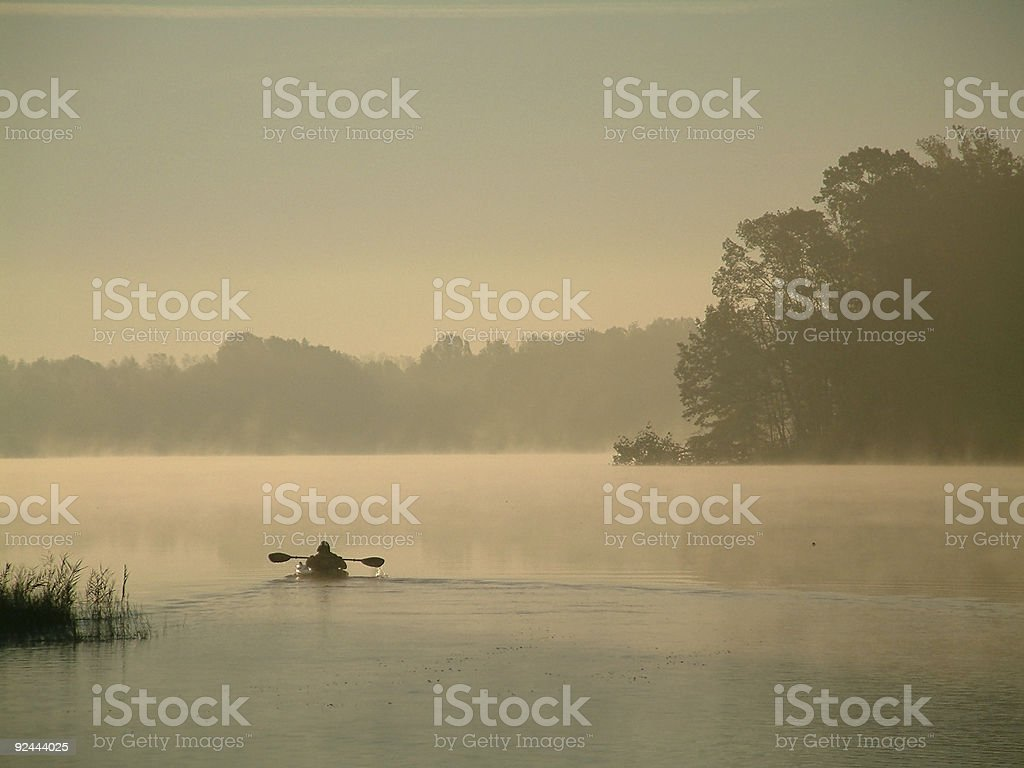early morning rower stock photo