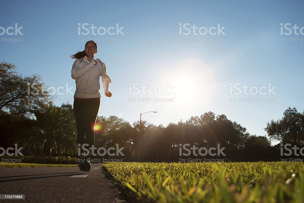 Early morning run royalty-free stock photo