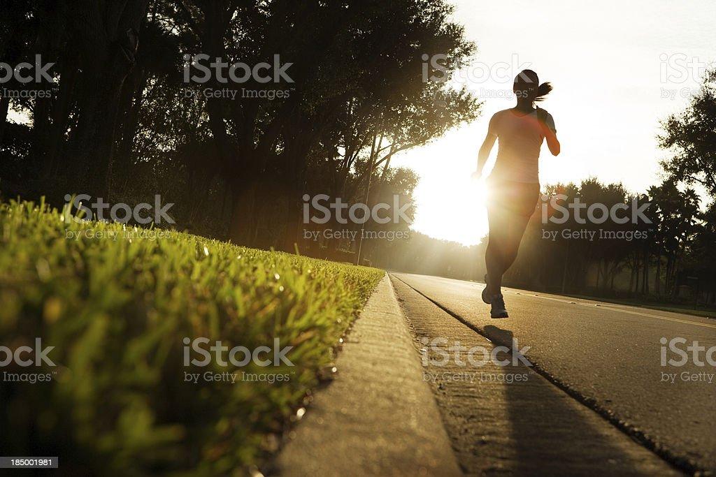 Early morning run royalty-free stock photo