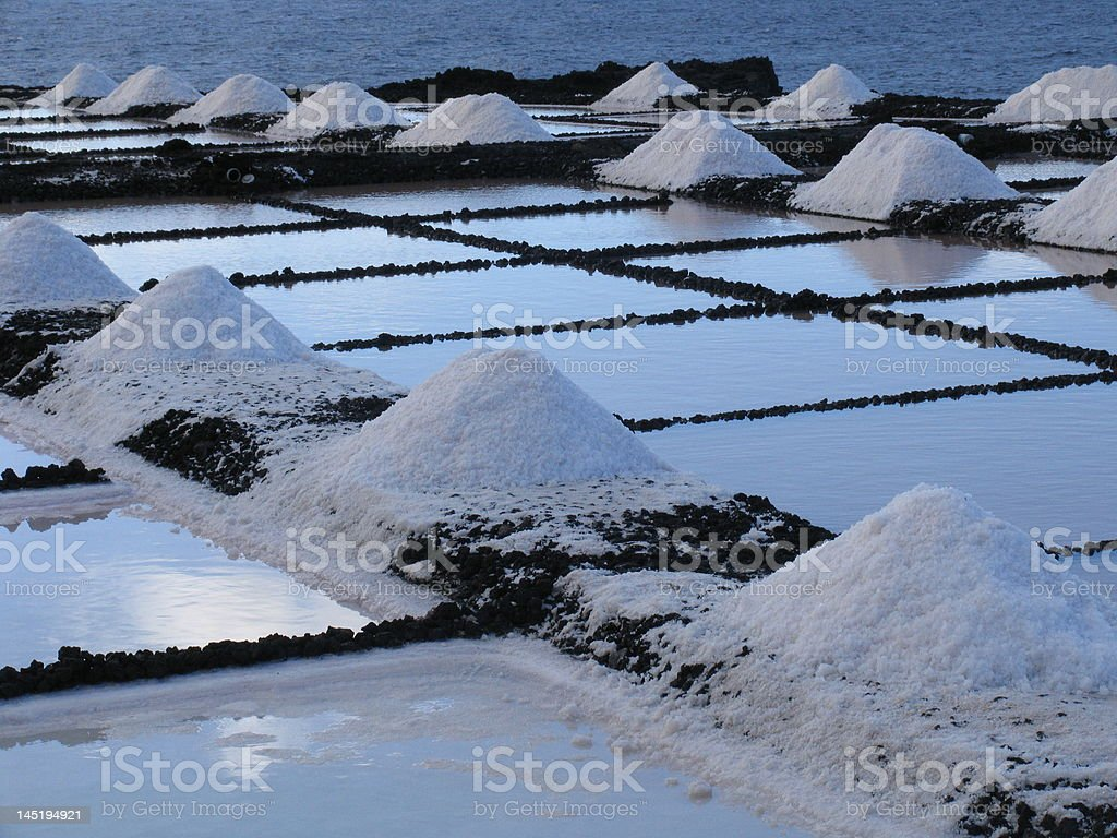 Salinas de madrugada stock photo