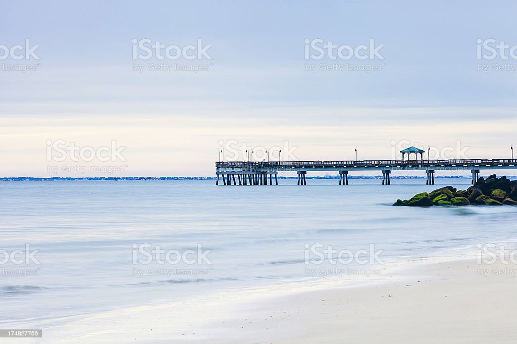 Early Morning Solitude on Beach in Virginia royalty-free stock photo