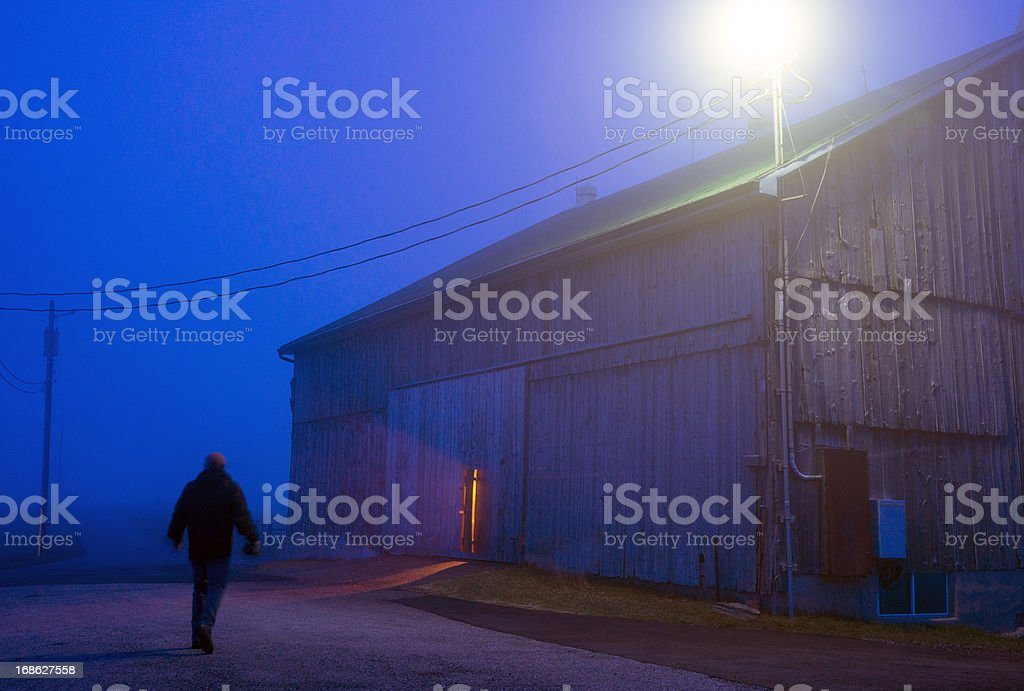 Early morning start for a farmer royalty-free stock photo