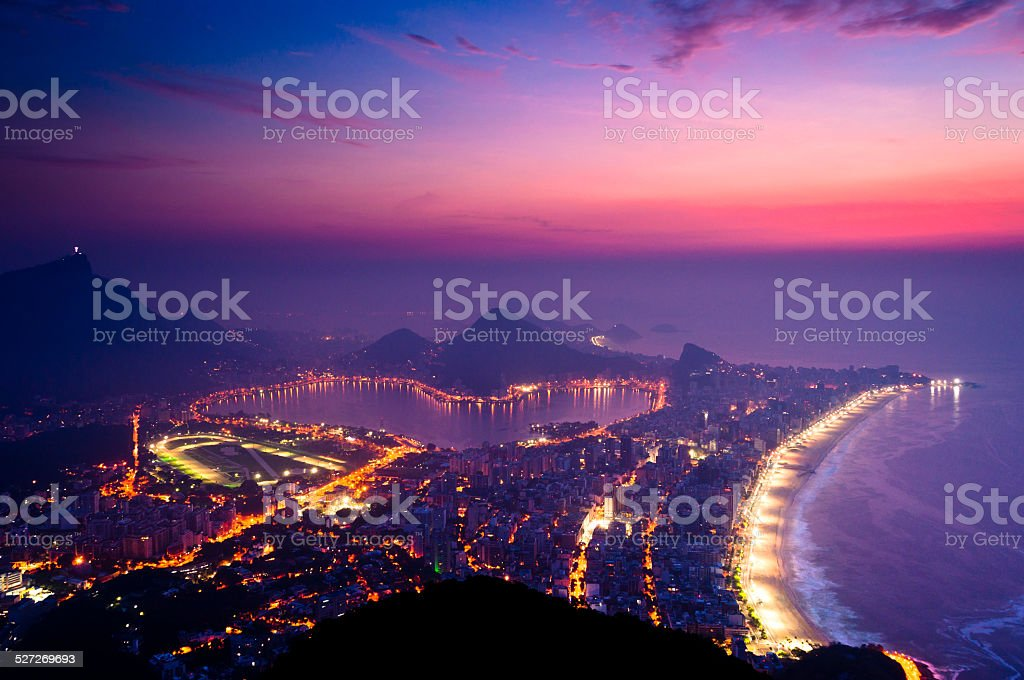 Early Morning Sunrise in Rio de Janeiro stock photo