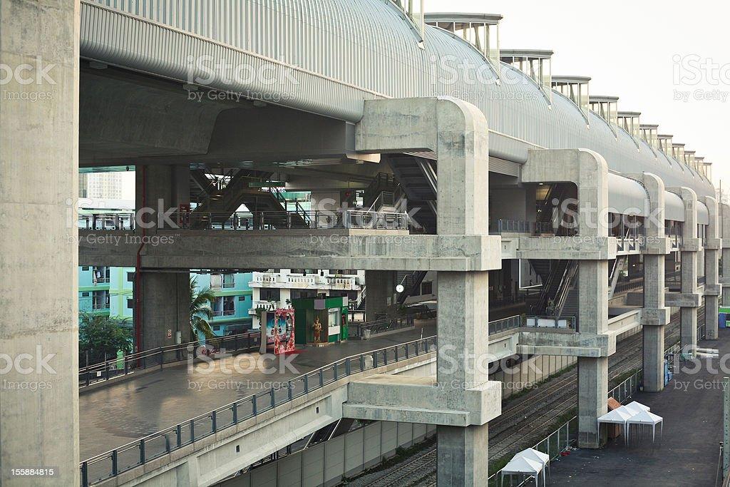Early morning traffic in Bangkok royalty-free stock photo