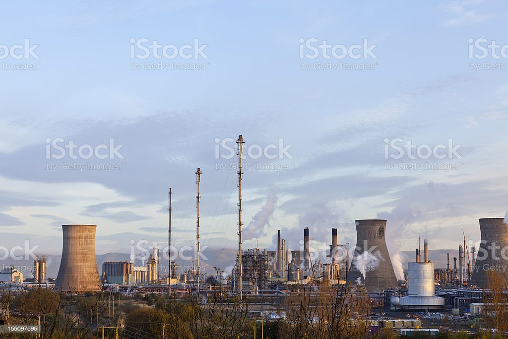 Early morning view of Grangemouth Petrochemical plant. royalty-free stock photo