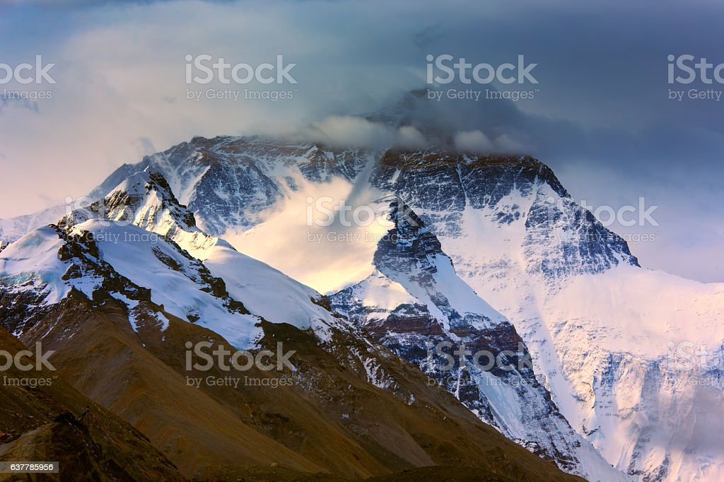 Early Morning View Of Mountain Everest stock photo