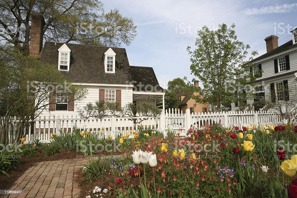 early morning Williamsburg, Virginia stock photo