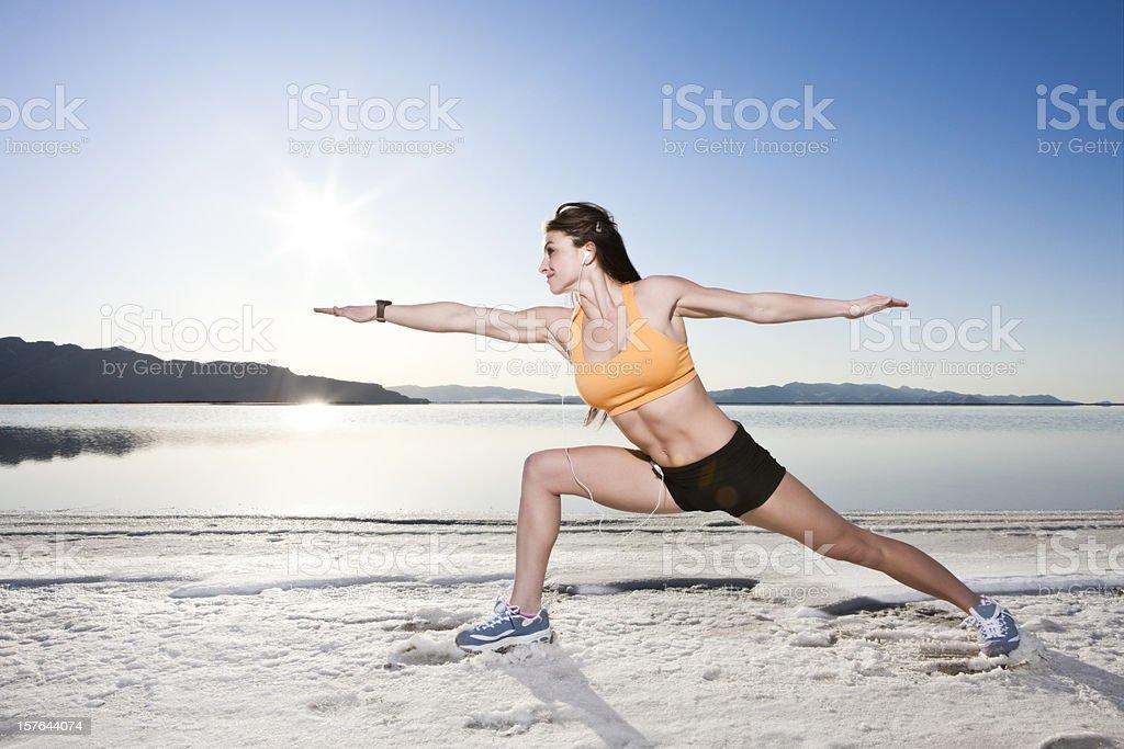 Early Morning Yoga royalty-free stock photo