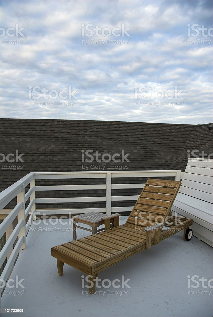 Early Morningon the Top Deck royalty-free stock photo