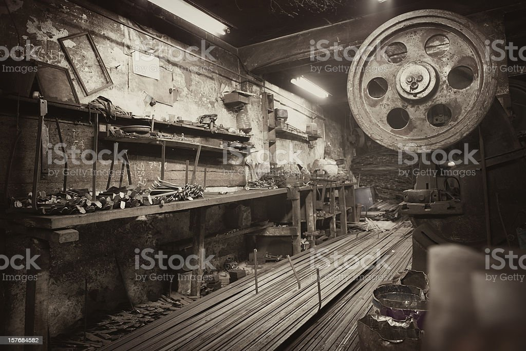 Early nineth century workshop stock photo