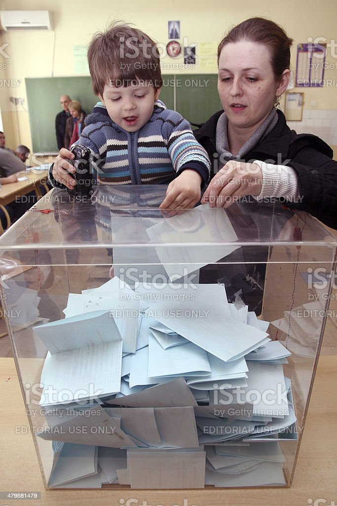 Early Parliamentary elections in Serbia stock photo