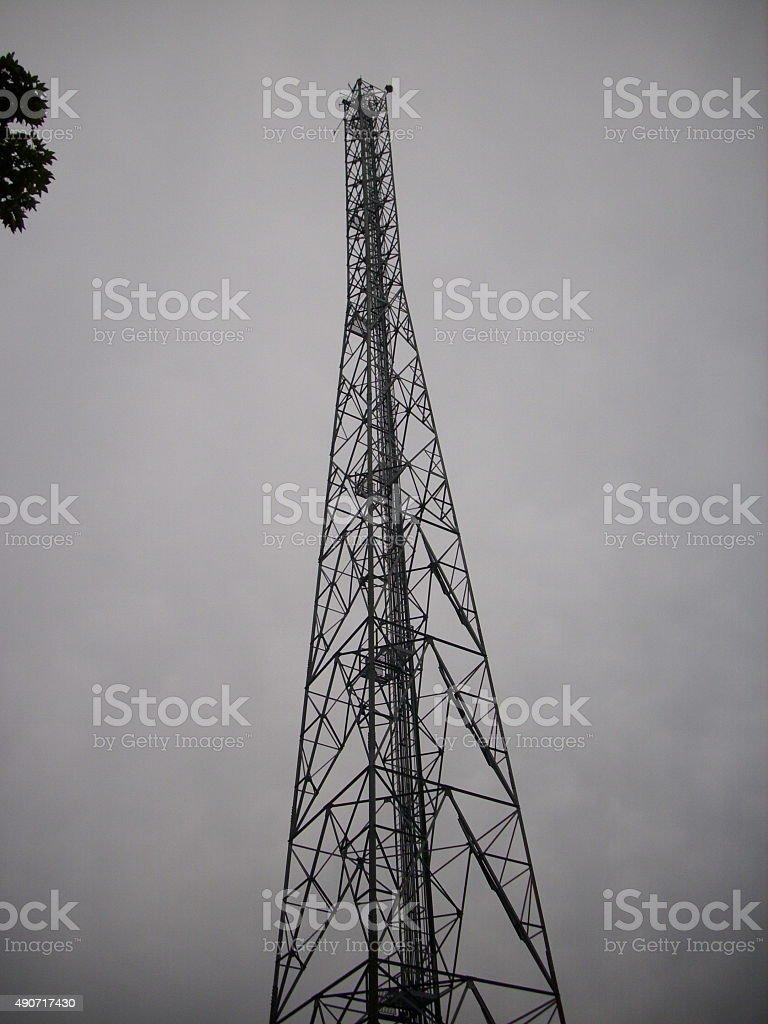 Early radar mast at Bawdsey in Suffolk stock photo