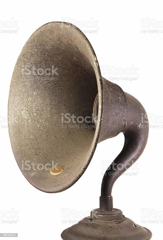 Início rádio alto-falante Horn foto royalty-free
