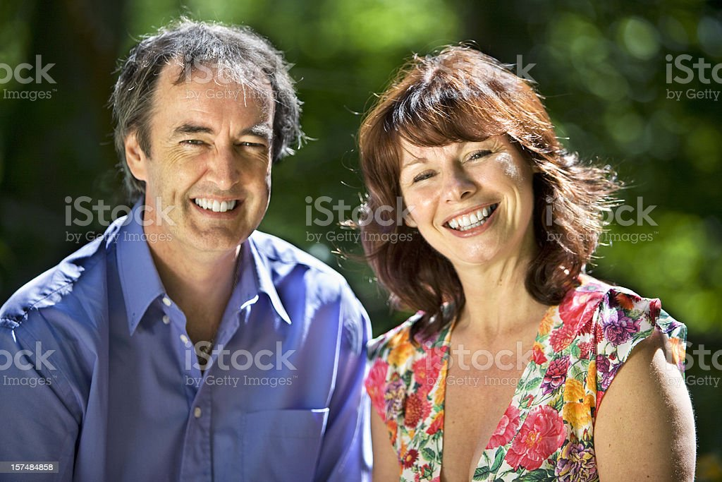 early retirement: mature couple royalty-free stock photo