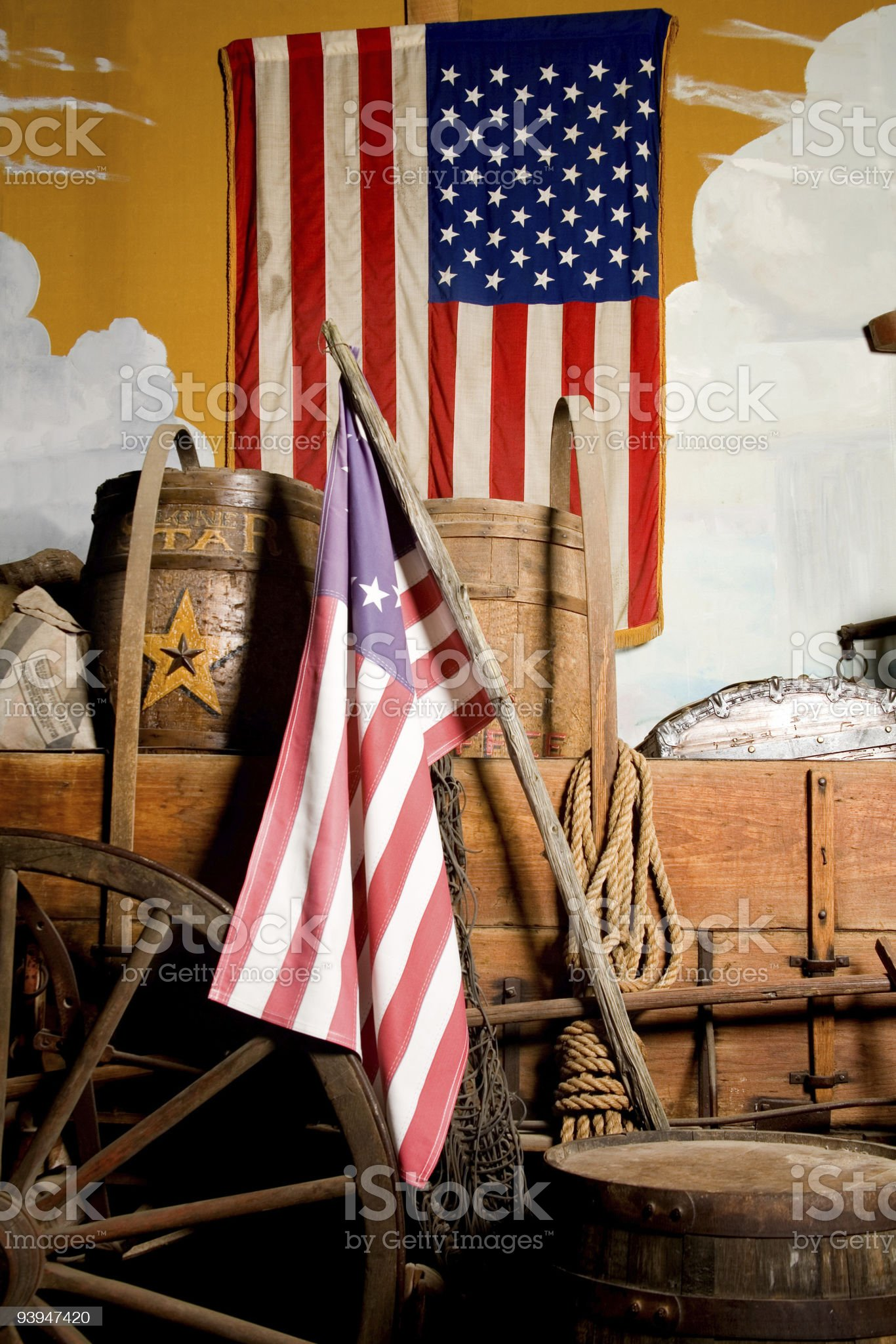 Early settlers wagon royalty-free stock photo