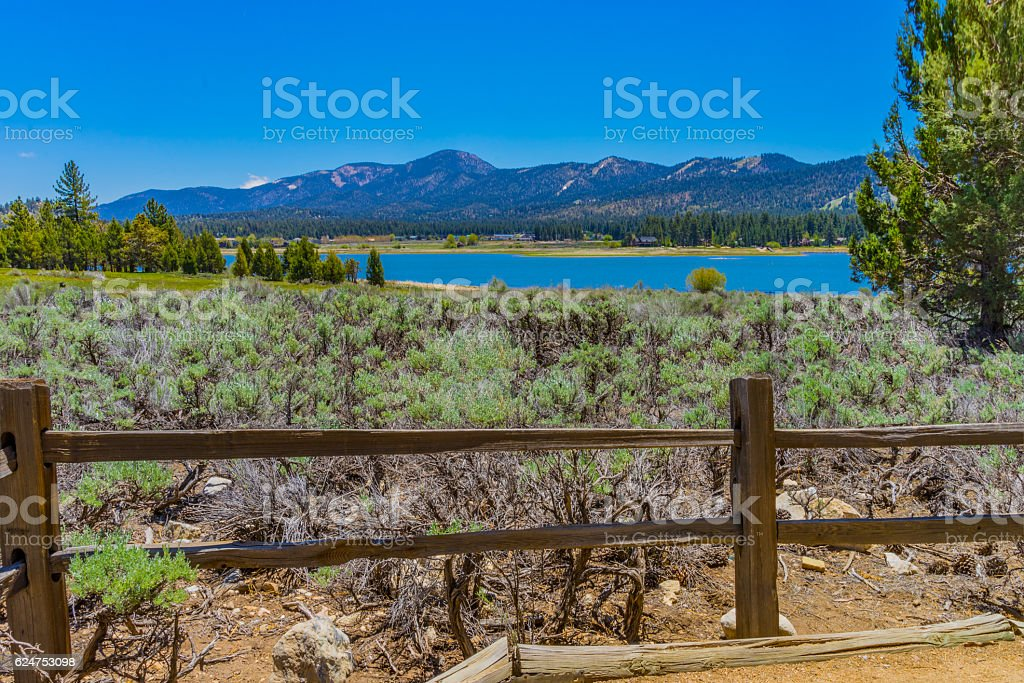 Early sping at Big Bear Lake San Bernardino Mountains, CA(P) stock photo