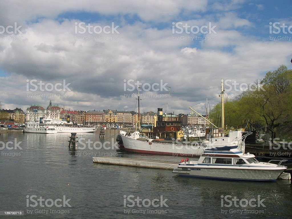Early spring in Stockholm royalty-free stock photo