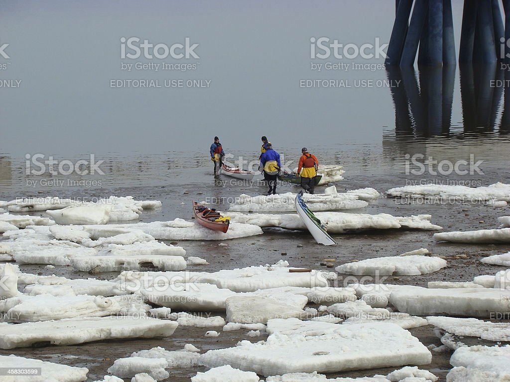 Early Spring Kayak royalty-free stock photo