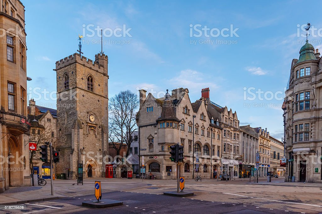 Early spring morning in Oxford stock photo