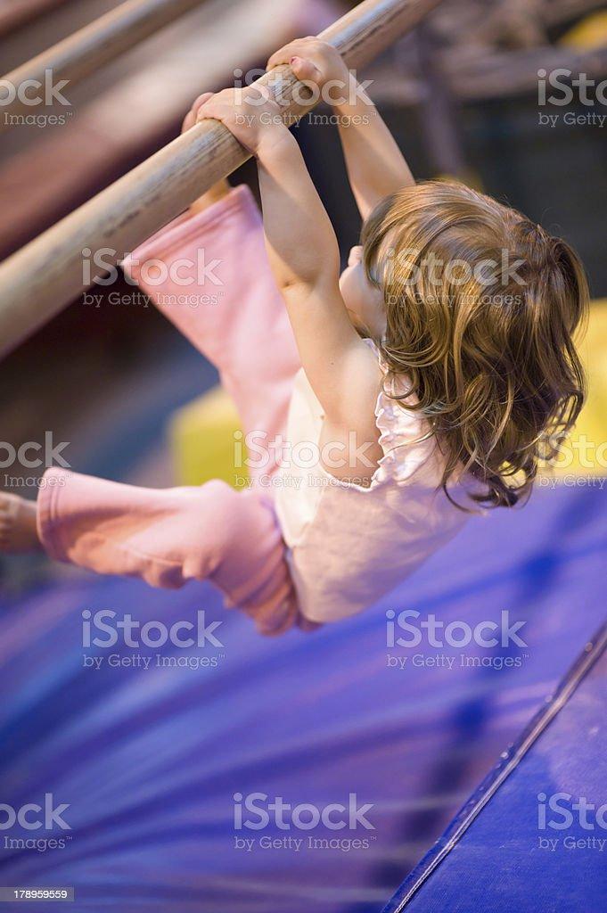 Early Start at Gymnastics Training royalty-free stock photo