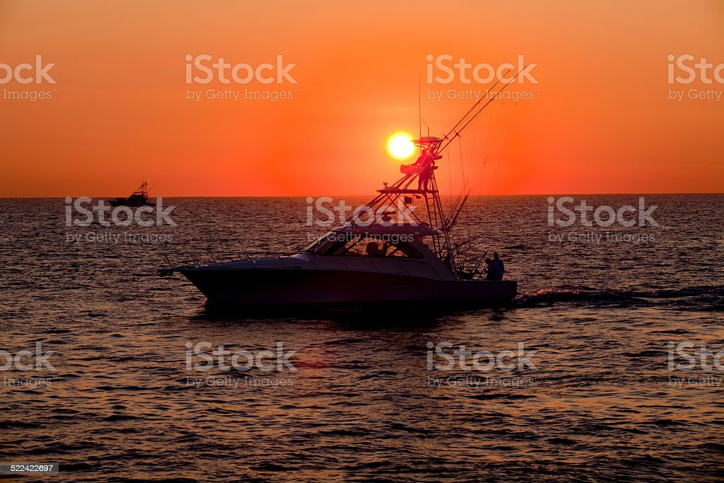 Early Start for Fishing stock photo