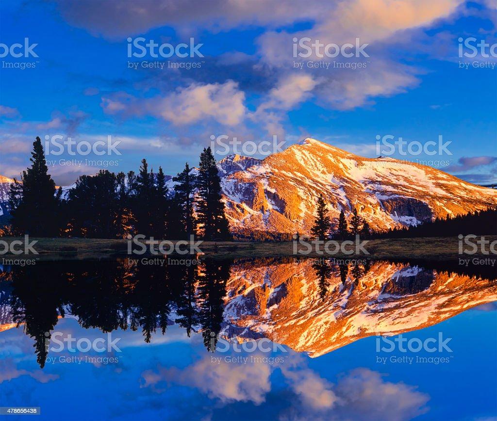 Early sunset at Yosemite National Park stock photo