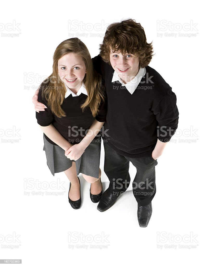 early teen students: best friends royalty-free stock photo