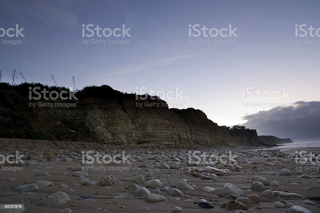 Early to the beach royalty-free stock photo