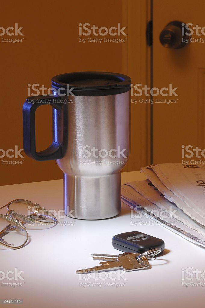 Early to Work royalty-free stock photo
