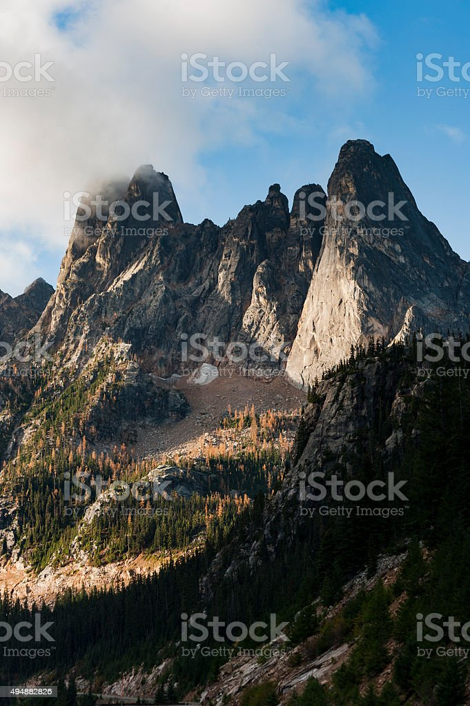 Early Winters Spires stock photo